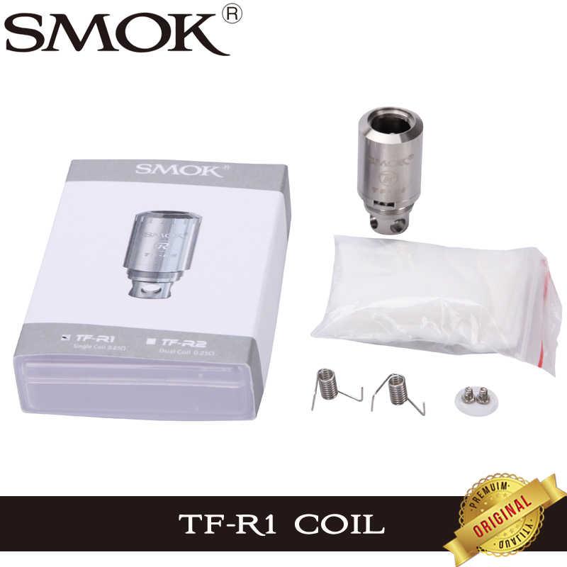 オリジナル SMOK TFV4 コイルヘッド TF-R1 RBA シングルコイル SMOK ため TFV4 アトマイザータンク Rebuildable
