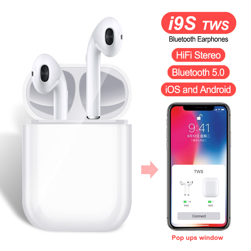 i9S i8X Tws Earbuds Mini Wireless Bluetooth 5.0 Earphones i9s Headsets Stereo Earbuds Wireless For iPhone Android
