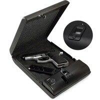 Portable Fingerprint Gun Safes Box Fingerprint Safe Sensor Box Security Keybox OS100A Strongbox for Valuables Jewelry Cash