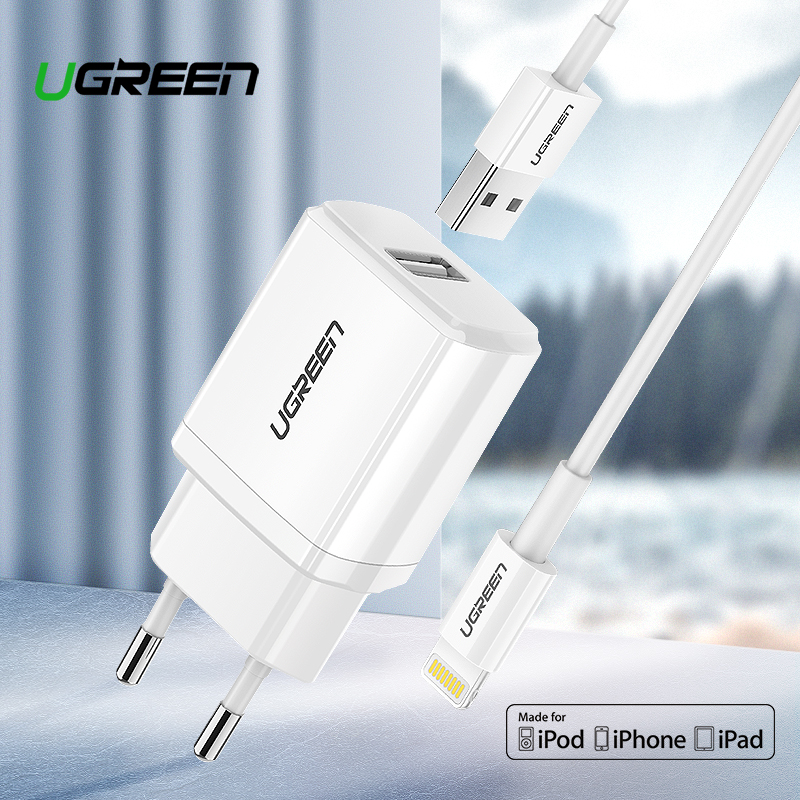Ugreen 5V2.1A USB Charger MFi USB Cable for iPhone Xs Max XR Mobile Phone Charger for iPhone X 8 7 Wall Phone Charger for ipad Ugreen 5V2.1A USB Charger MFi USB Cable for iPhone Xs Max XR Mobile Phone Charger for iPhone X 8 7 Wall Phone Charger for ipad