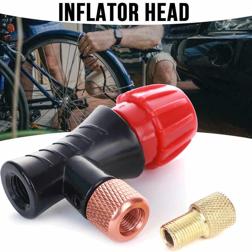Mini Tangan Kepala Sepeda CO2 Botol Schrader Presta Katup Cepat Inflatable Road MTB Sepeda Gunung Udara Tick Aksesoris # PEX