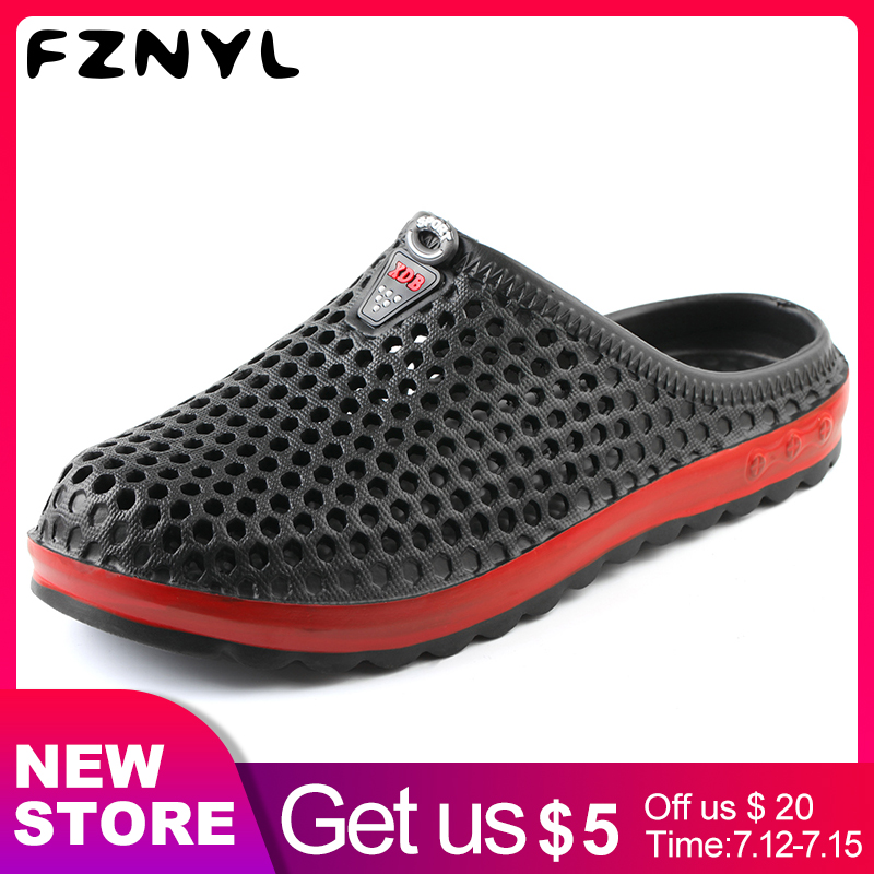 FZNYL Ultralight Women Men's Sandals EVA Soft Comfortable 2019 Summer Causal Shoes Male Female Water Outdoor Beach Slippers(China)
