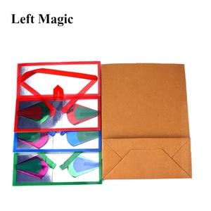 Image 2 - Mini Dream Bag/Verschijnen Bloem Doos (13*6.2*6.2Cm) goocheltrucs Super Delux Zak Verschijnen Bloem Lege Box Magic Props