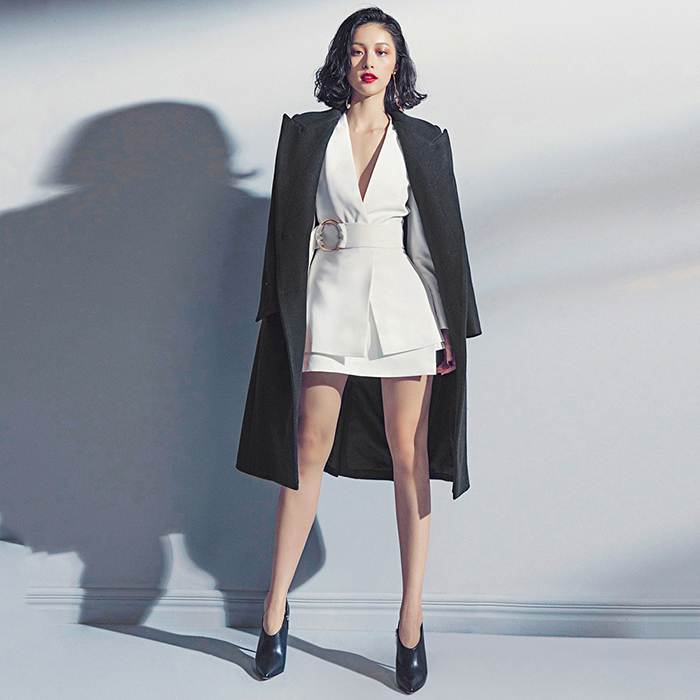 European Women Casual Skirt Suits Long Blazers Short Skirt White Twin Sets Cheap Price Plus Size Quality Two Pieces Set 19