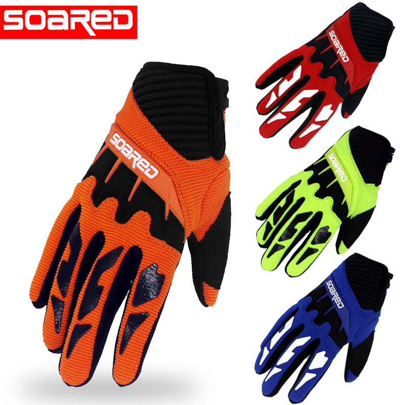 SOARED 3-12 years Old Kids full Finger Cycling Gloves Skate Sports Riding Road Mountain Bike Gloves for Boys and Girls body building sports cyling half finger gloves for women black red