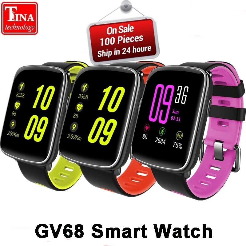 GV68 Смарт-часы Для мужчин Для женщин Водонепроницаемый MTK2502 SmartWatch телефон Носимых устройств сердечного ритма сна Мониторы для IOS Android