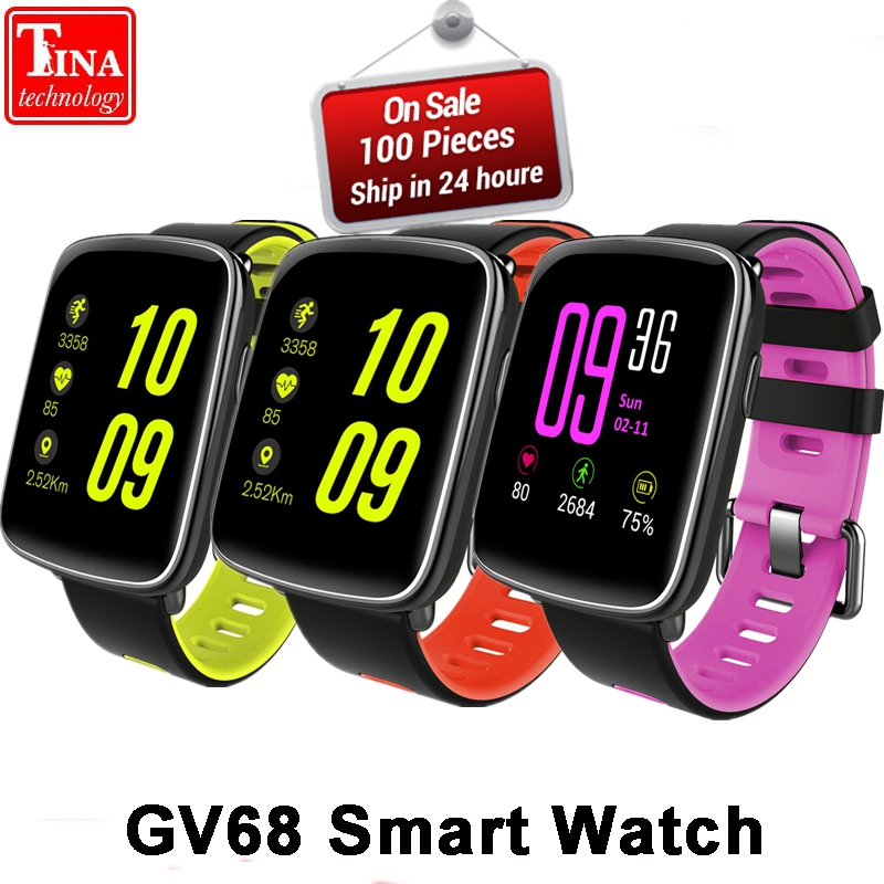 GV68 Smart Watch Men Women Waterproof MTK2502 SmartWatch Phone Wearable device Heart Rate Sleep Monitor for