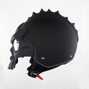 Image 3 - DOT Skull Motorcycle helmet Retro half face Chopper helmets Motorbike Capacete Moto Cascos Racing Armet Masei