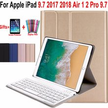 86d99cca2e9 Slim Wireless Removeable Bluetooth Keyboard Case Cover for Apple iPad Air 1  2 Pro 9.7 5 6 New iPad 9.7 2017 2018 A1822 A1893