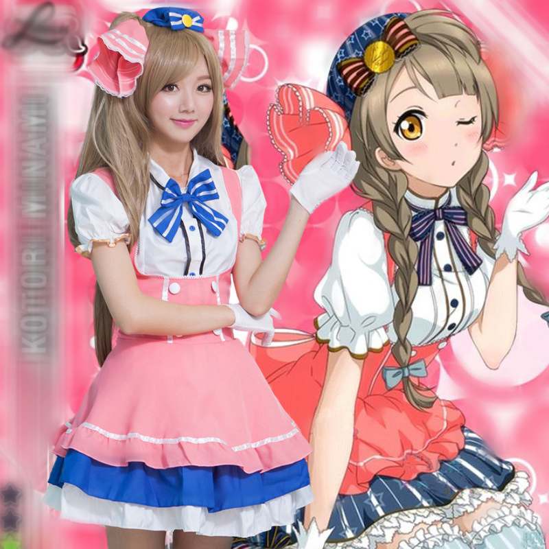Anime Love Live Costume Cosplay Minami Kotori For Woman Girl Halloween Carnevale Costumes Clothes Free Size