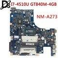 Kefu Z50-70 для lenovo G50-70M G50-70 Z50-70 i7-4510u материнской ACLUA/ACLUB <font><b>NM</b></font>-A273 GT840M-4GB Тесты Бесплатная доставка