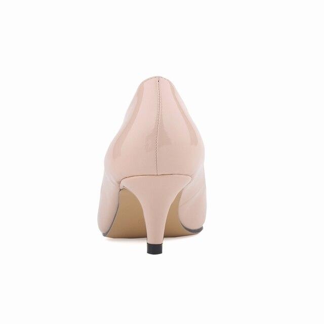 Classic Sexy Pointed Low Med Kitten Heels Women Pumps Shoe