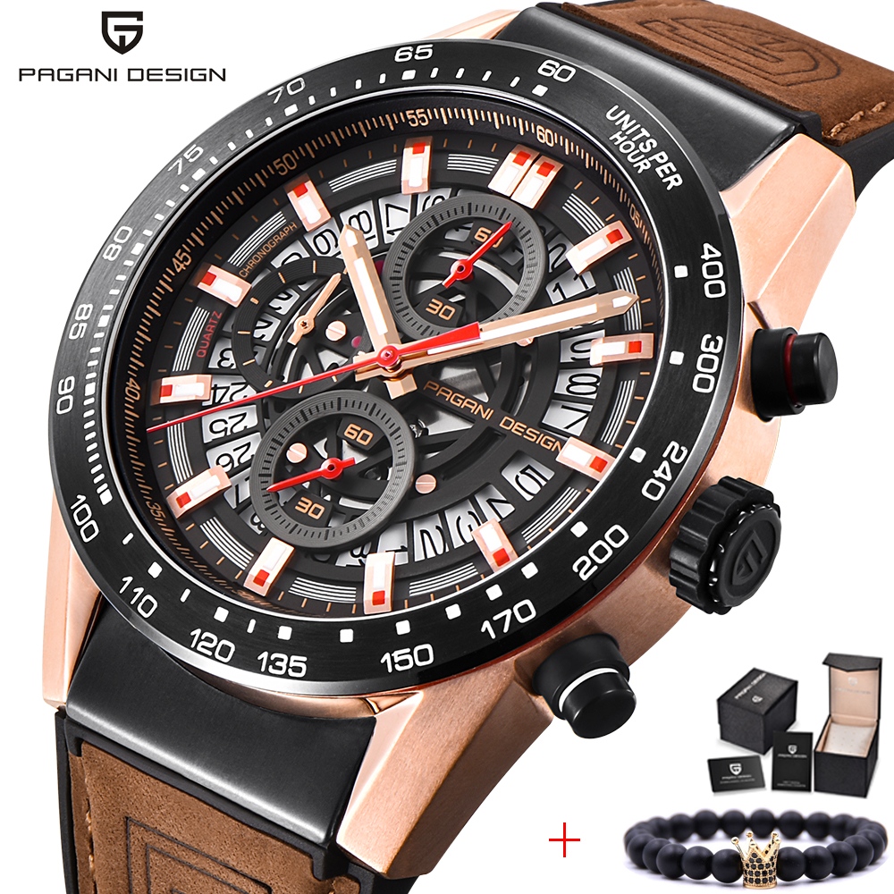 2018 Men Watches PAGANI DESIGN Top Luxury Brand Waterproof Quartz Watch Fashion Military Leather Wrist Watch Relogios Masculino2018 Men Watches PAGANI DESIGN Top Luxury Brand Waterproof Quartz Watch Fashion Military Leather Wrist Watch Relogios Masculino