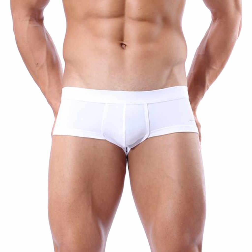 f02344612b New Swimsuit men's swimming trunks Boxer Briefs Swimming Swim Shorts Trunks  men swimwear Pants White summer