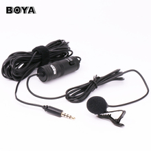 BOYA BY-M1 Lavalier Audio Video Phone Microphone Condenser Mic Recorder for iPhone Andriod Phones Canon Nikon DSLR Camcorder