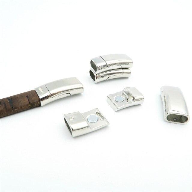 a0558a3dfd62 € 5.46 |5 piezas unids para 10 5mm cierres magnéticos de cuero regaliz  suministros pulsera de plata antigua componentes hallazgos D 6 15 en Joyas  y ...