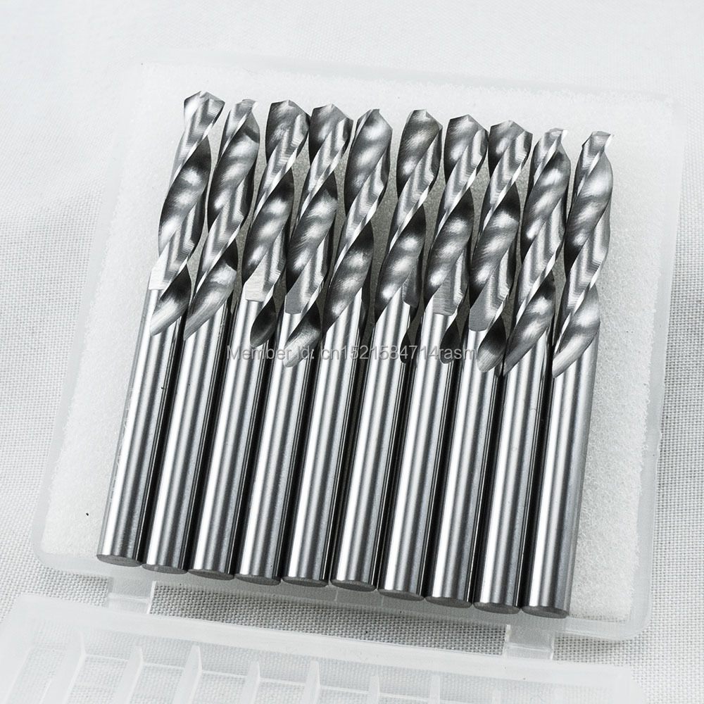 KLOT 10pcs HRC50 Solid Carbide Twist Drill Bit 3 55 3 6 3 65 3 7