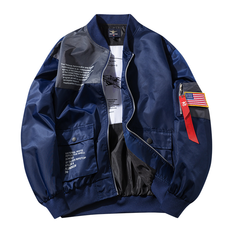 Large Size Men's Bomber Jacket Men Air Pilot Casual Jackets Yokosuka Clothing Fashion Coats Male Hip Hop Flight Outerwear ,GA372