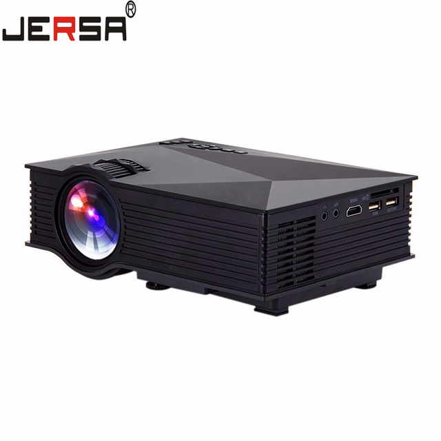 Wireless WIFI UC46 Mini Portable Projector 1080P Red-Blue 3D Effect Multimedia Video Home Cinema LED Projector US/EU Plug