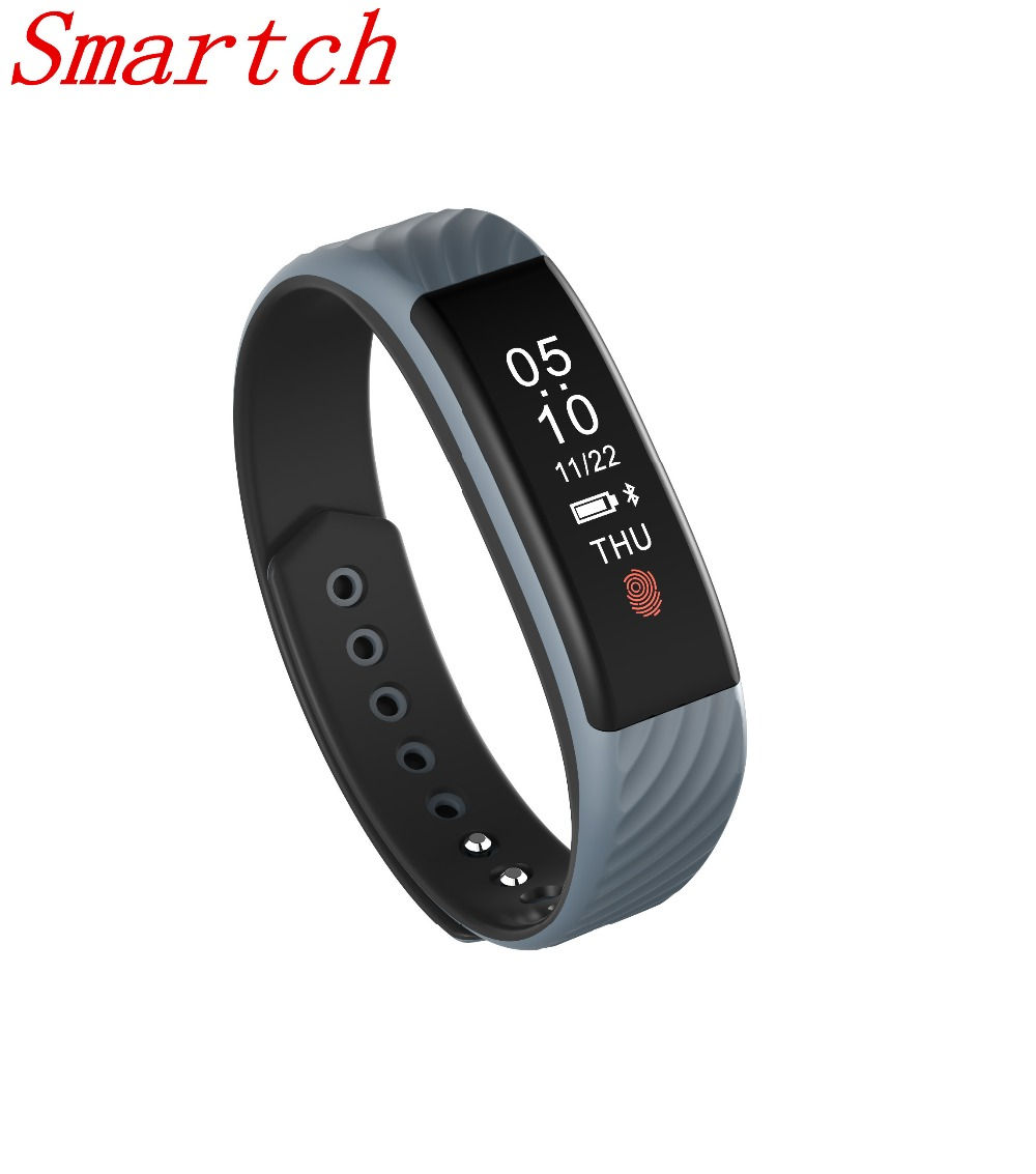 Smartch 2017 New W810 Smart Wristband Heart Rate Monitor 0 87 OLED Display Smart Band IP67