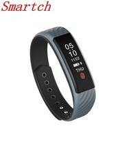 Smartch Новинка 2017 года W810 смарт-браслет монитор сердечного ритма 0.87 «oled Дисплей Smart Band IP67 Водонепроницаемый смарт-браслет для Androi