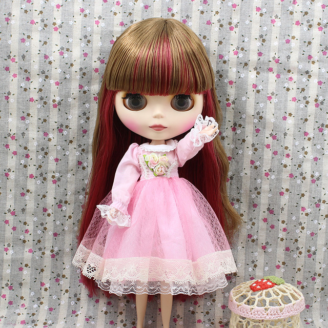 ICY Neo Blythe Doll Red Brown Hair Regular Body