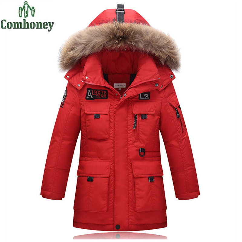 Boys jackets&coats kids winter coat big boy fur hooded parka thick outerwear warm down coat for teenagers children clothing casual 2016 winter jacket for boys warm jackets coats outerwears thick hooded down cotton jackets for children boy winter parkas