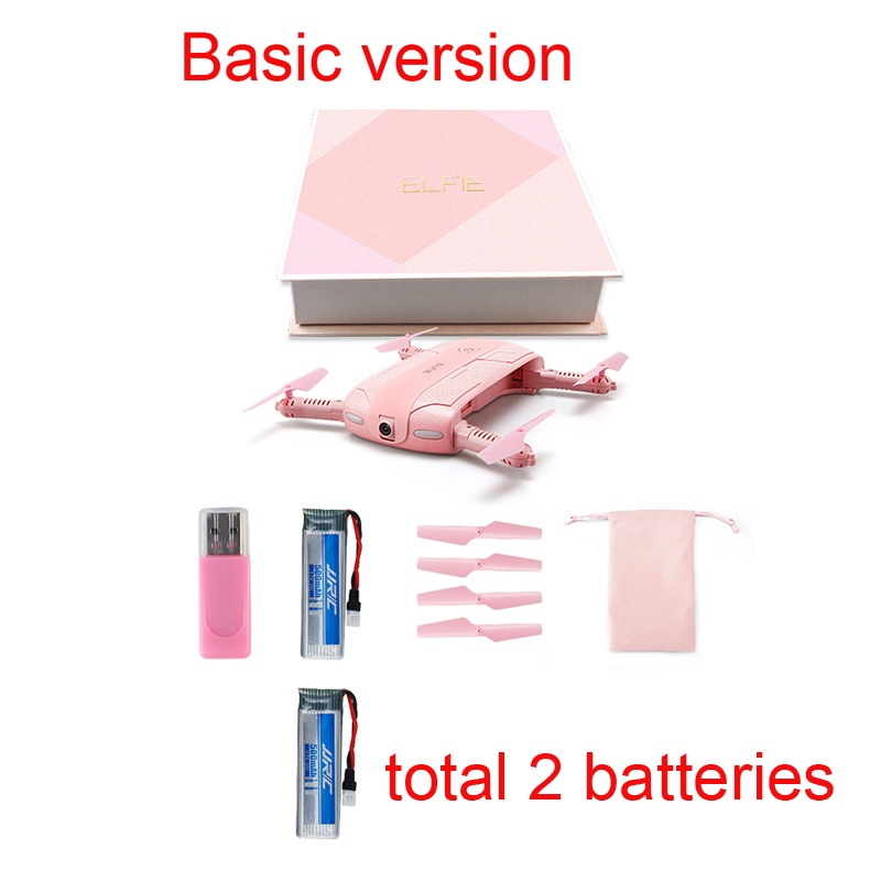 (with more battery)Original JJRC H37 ELFIE LOVE with 2MP Camera drone  WiFI FPV  Quadcopter surpport ( IOS/Android phone ) pink foldable pocket selfie drone with camera jjrc h37 wifi fpv quadcopter rc drones phone control mini dron elfie copter