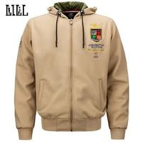 Military Style Embroidery Hoodies Men Spring Air Forces One Warm Sweatshirt Army Men S Fleece Hoodie