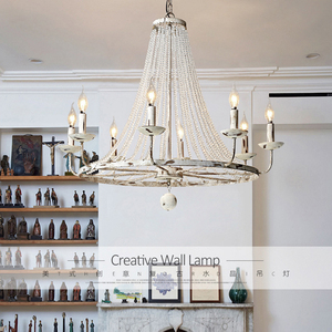 Image 5 - Retro Vintage luxury American country style big LED crystal chandelier lamp lustres modern E14 lights for hotel living room