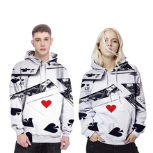 Cosplay Hoodies autumn and winter couple hooded sweater 3D printing poker logo polyester material hoodie