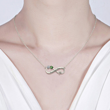 Personalized  Silver Pendant Necklace Charming Infinity Sign Decorated