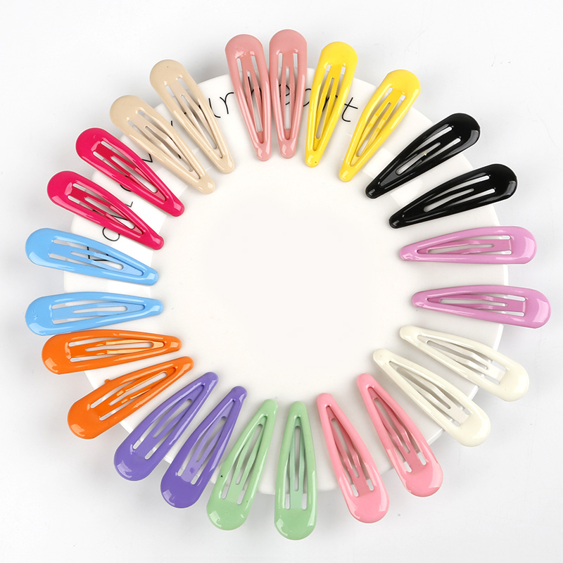 24Pcs/Set Candy Solid Color Children Snap Hair Clips Barrettes Girls Cute Hairpins Colorful Hairgrips For Kids  Hair Accessories