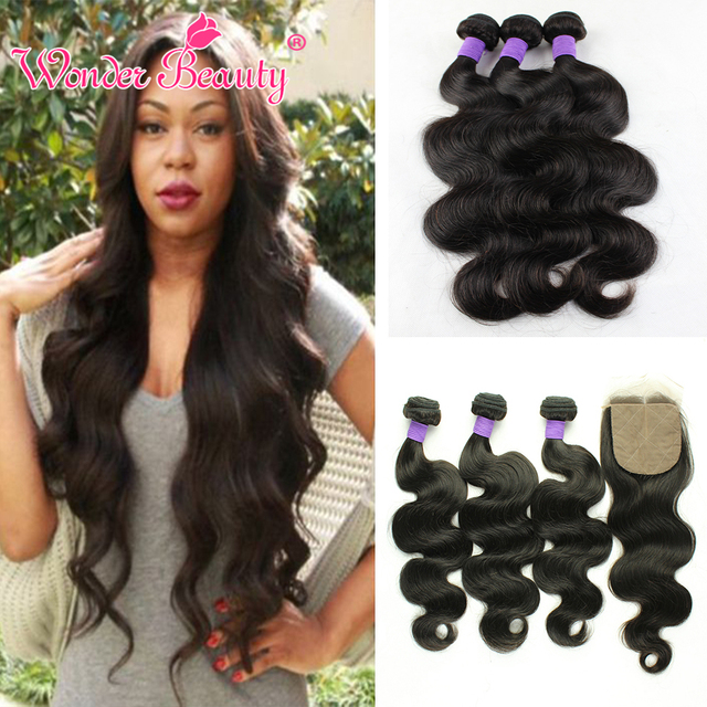 Ms Here Indian Virgin Hair Body Wave With Silk Base Closure 4 Bundles 8AIwish Raw Indian Human Hair Weave Body Wave With Closure