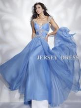 free shipping 2013 Blue green V-neck long design brides maid dresses chiffon bridal vestidos formales Graduation Dresses