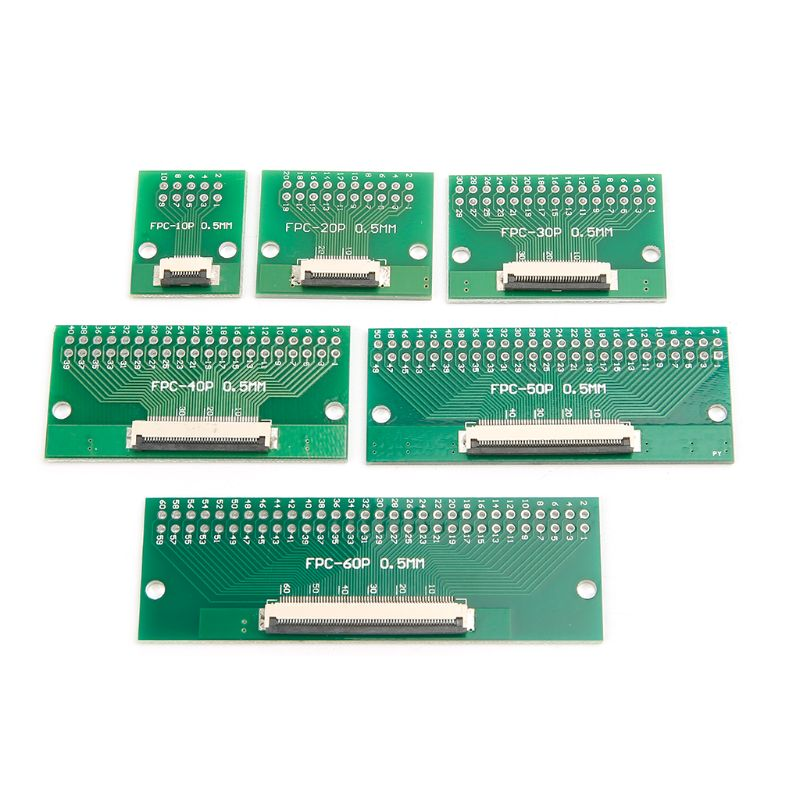 0.5mm FPC/FFC To 2.54mm FPC/FFC SMT PCB Converter Board Welding With Connector