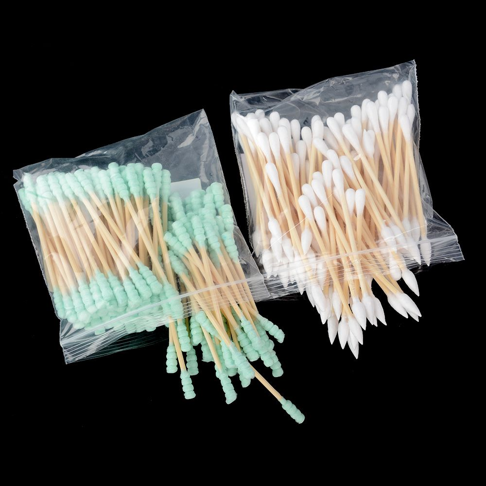 100pcs Wooden Double Tip Remover Cotton Swabs Buds Unique Design For Kids Wood Sticks Nose Ears Cleaning Health Care Tools