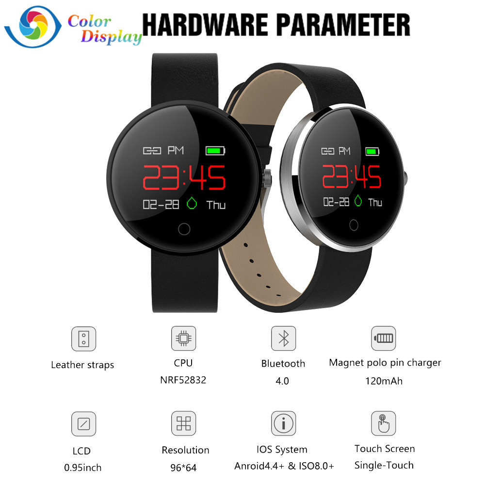 Smart Wrist Watch Bluetooth Professional Sports Activity Sleep Tracker Heart Rate Fitness Pedometer Bracelet Colorful UI BFOF ot01 2016 the latest style sports heart rate bracelet nfc smart bracelet fitness tracker for android ios
