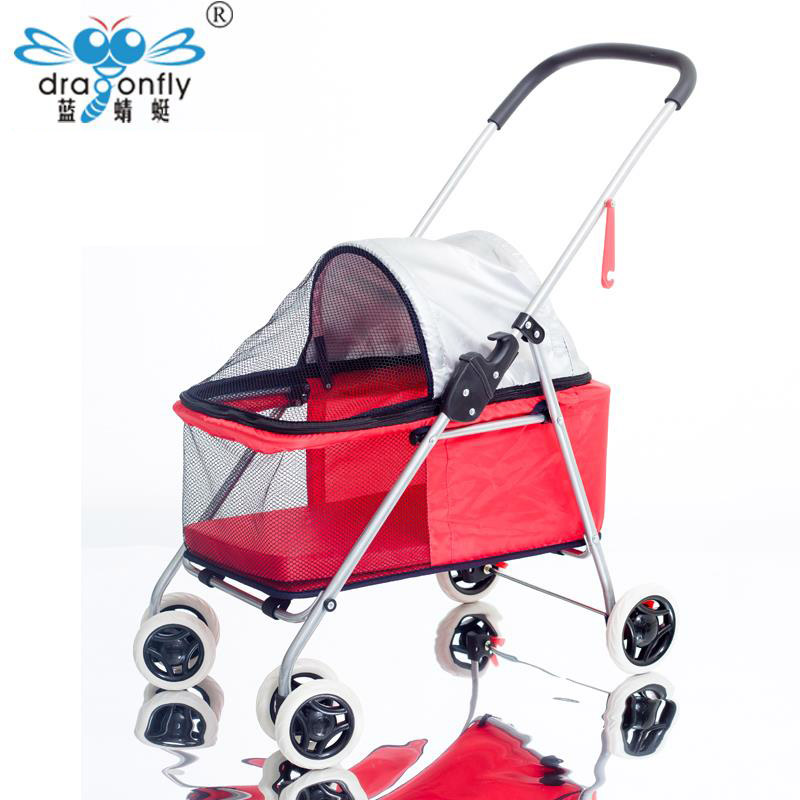 Pet Dog Products Walking The Dog Cat Cart Two Way Light and Portable Foldable Small Teddy Outdoor Pets Special Purpose Vehicle