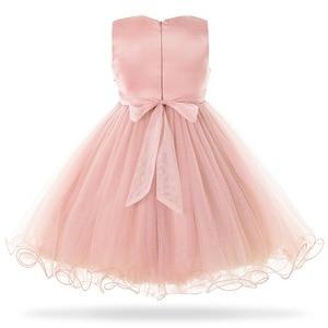 Image 2 - Cielarko Pink White Flower Girl Wedding Dress Kids Formal Party Ball Gown Frock For 3 10 Year Children Birthday Princess Dresses