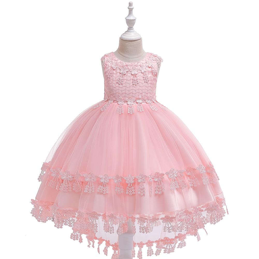 buy popular fe92f a3948 Applique Spitze Fischschwanz Mädchen Sommer Kleid Baby Ballkleid Bogen  Kleider Mädchen Party Geburtstag Prinzessin Kinder Kleider 3-10 jahre T5039