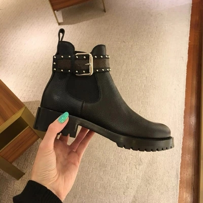 Luxury brand designer shoes woman2018 autumn and winter women's boots new women's boots Martin boots women's sexy L