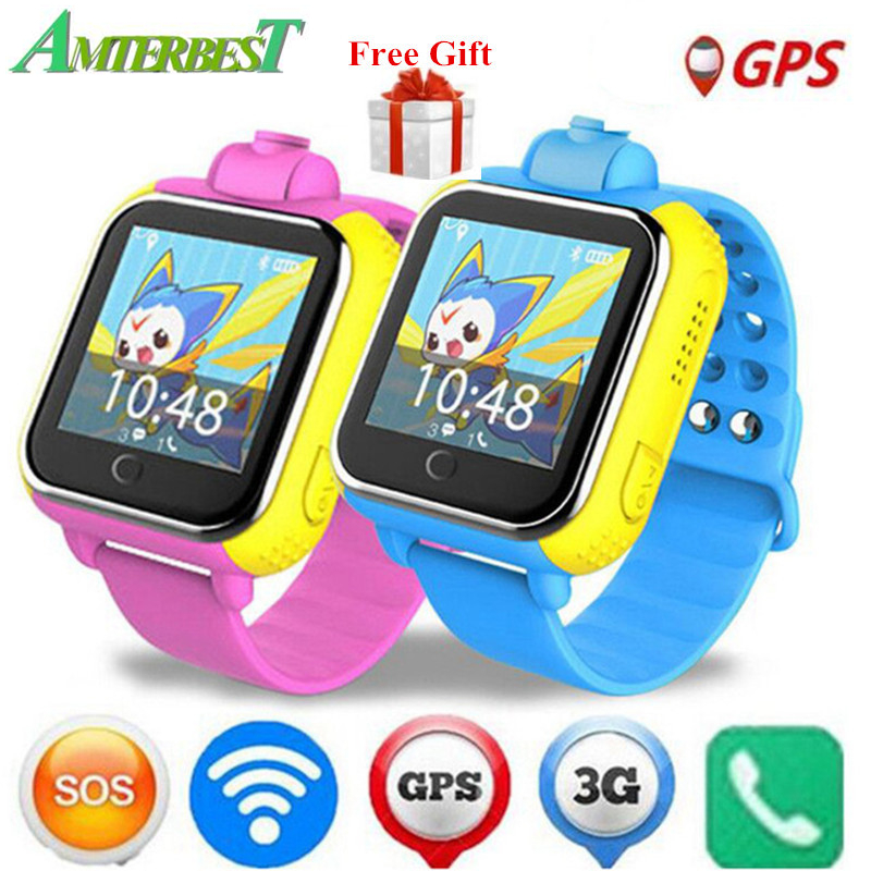 купить AMTERBEST Q730 720P Camera Kids 3G GPRS GPS Locator Tracker Smart Watch Baby Watch with Camera for IOS Android Phone PK Q50 Q90 недорого