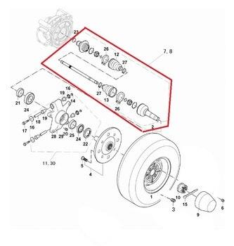 rear left drive shaft or  transmission shaft fit for  HISUN 700CC  UTV