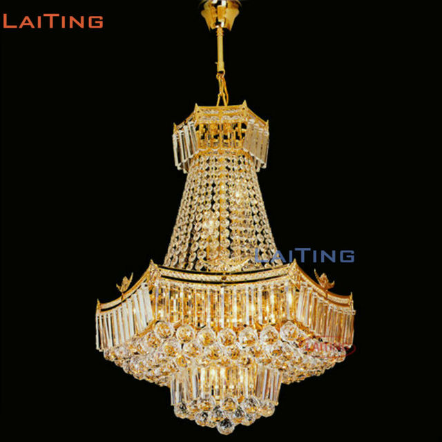 Laiting Lighting   Islam Style Gold Antique Clear K9 Crystal Church Pendant Lamp Muslim Chandelier Living Room  +Free shipping