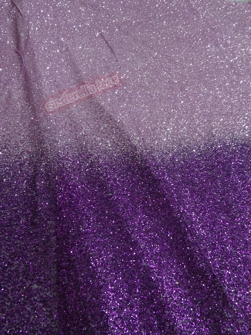 shining JIANXI C 4917 glued glitter sequins lace fabric african tulle mesh fabric for wedding dress
