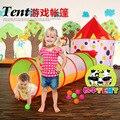 Nueva llegada de la Vaca Lechera de Mongolia Bolsa Carpa infantil Casa de Juego de Bebé túnel de Dos Piezas Con Bastidor de Soporte 0-3 Años de Edad Los Juguetes Del Bebé