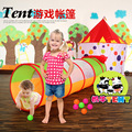 new arrival Dairy Cow Children's Tent Mongolia Bag Game House Baby Tunnel Two Pieces With Support Frame 0-3 Years Old Baby Toys