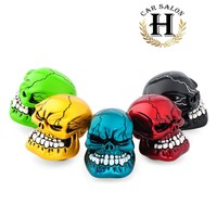 Universal High Quality Resin Cool Skull Head Shaped Style Car Manual Gear Shift Knob Lever Automobile Accessory