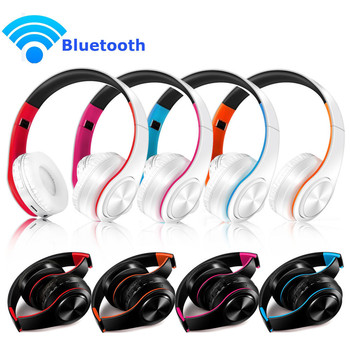 Wireless Bluetooth Foldable Headset Stereo Headphone Earphone For iPhone Samsung noise-canceling over head design Communicate